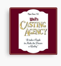 Walt's Casting Agency - Burgundy Canvas Print