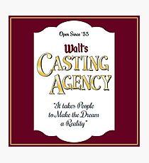 Walt's Casting Agency - Burgundy Photographic Print
