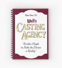 Walt's Casting Agency - Burgundy Spiral Notebook
