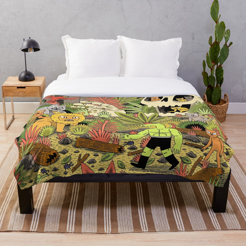 The Jungle Throw Blanket