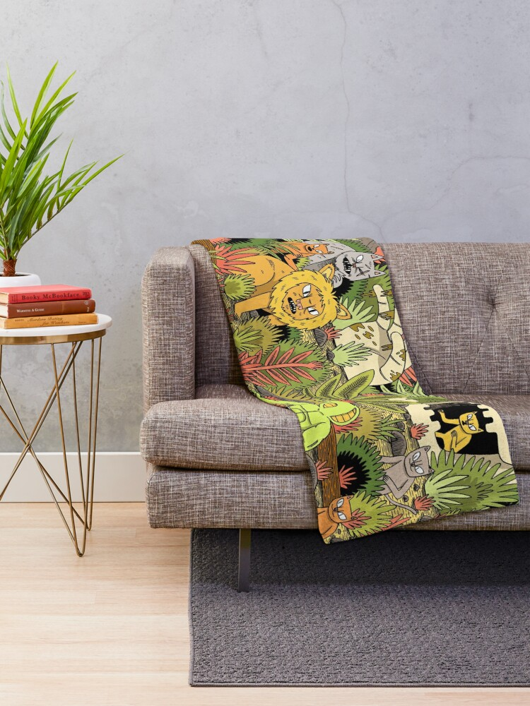 Alternate view of The Jungle Throw Blanket