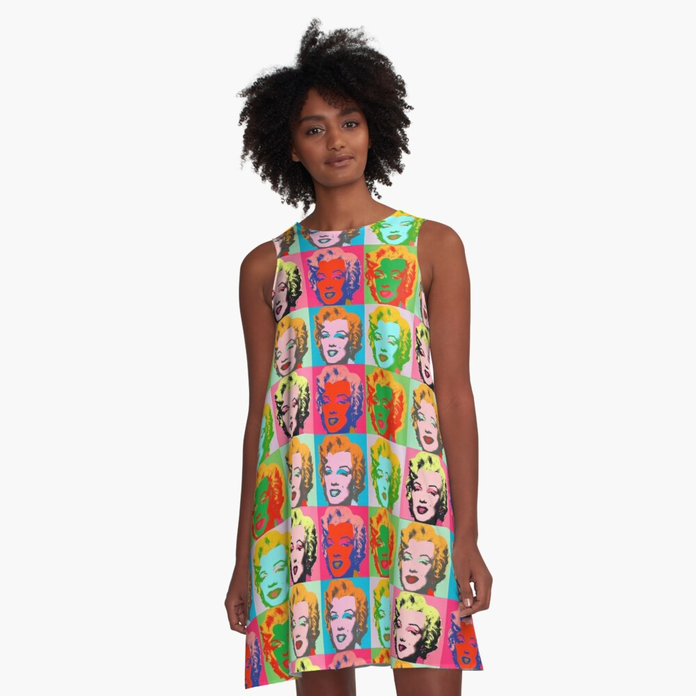 Andy Warhol Monroe A-Line Dress Front