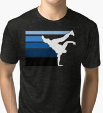 BBOY lines Blu/wht Tri-blend T-Shirt
