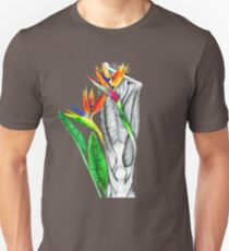 Thigh and Patella with Bird of Paradise Flower T-Shirt
