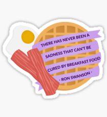 Ron Swanson Breakfast Quote Sticker
