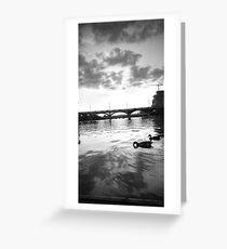 Austin Sunset Black and White Greeting Card