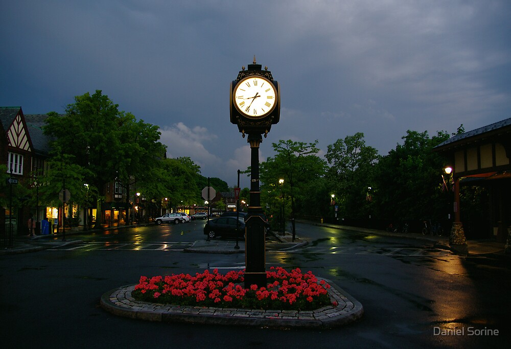 Town Square after the rain by Daniel Sorine