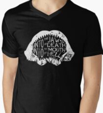 Into the Jaws of Death Into the Mouth of Hell Men's V-Neck T-Shirt