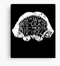 Into the Jaws of Death Into the Mouth of Hell Canvas Print