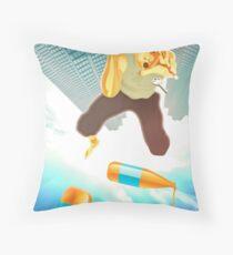 Gravity failure Throw Pillow