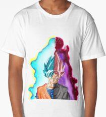 Goku Blue God & Black Goku Rose Long T-Shirt