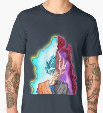 Goku Blue God & Black Goku Rose Men's Premium T-Shirt