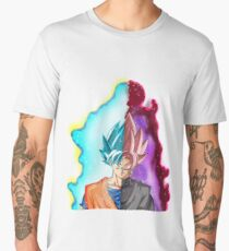 Goku Blue God & Black Goku Rose Men's Premium T-Shirt