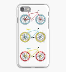 Bicycles in Primary Colors iPhone Case/Skin
