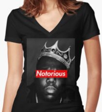 NOTORIOUS BIG T-SHIRT Women's Fitted V-Neck T-Shirt