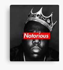 NOTORIOUS BIG T-SHIRT Canvas Print