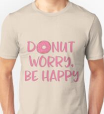 Donut worry, be happy Slim Fit T-Shirt