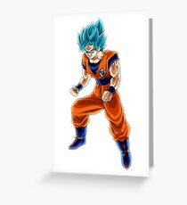 Goku Blue God Greeting Card