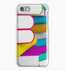 multiple colorful books stack iPhone Case/Skin