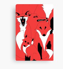 Foxes from 'In The Court of King Rat' Canvas Print