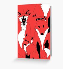 Foxes from 'In The Court of King Rat' Greeting Card