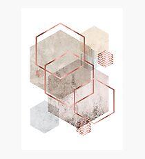 Geometric Abstract  Photographic Print