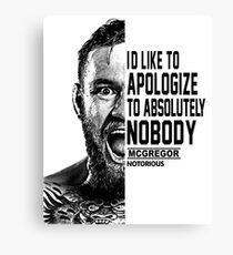 conor mcgregor ( half face quote) Canvas Print