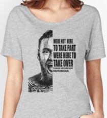 conor mcgregor ( half face quote) Women's Relaxed Fit T-Shirt