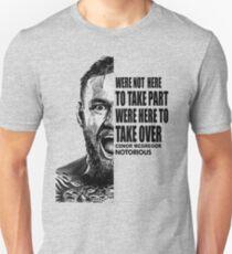 conor mcgregor ( half face quote) Slim Fit T-Shirt