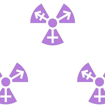 Trans Radiation Symbol (Lavender) - 3 Stickers by GenderConcepts