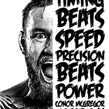 conor mcgregor ( half face quote) by haligues