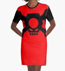 Skull Crossbones Wrenches Nuts Graphic T-Shirt Dress