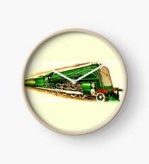 Big Green Locomotive Train Clock
