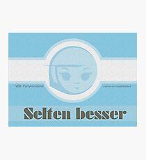Selten Besser © hatgirl.de (Retro, Ostalgie) Photographic Print