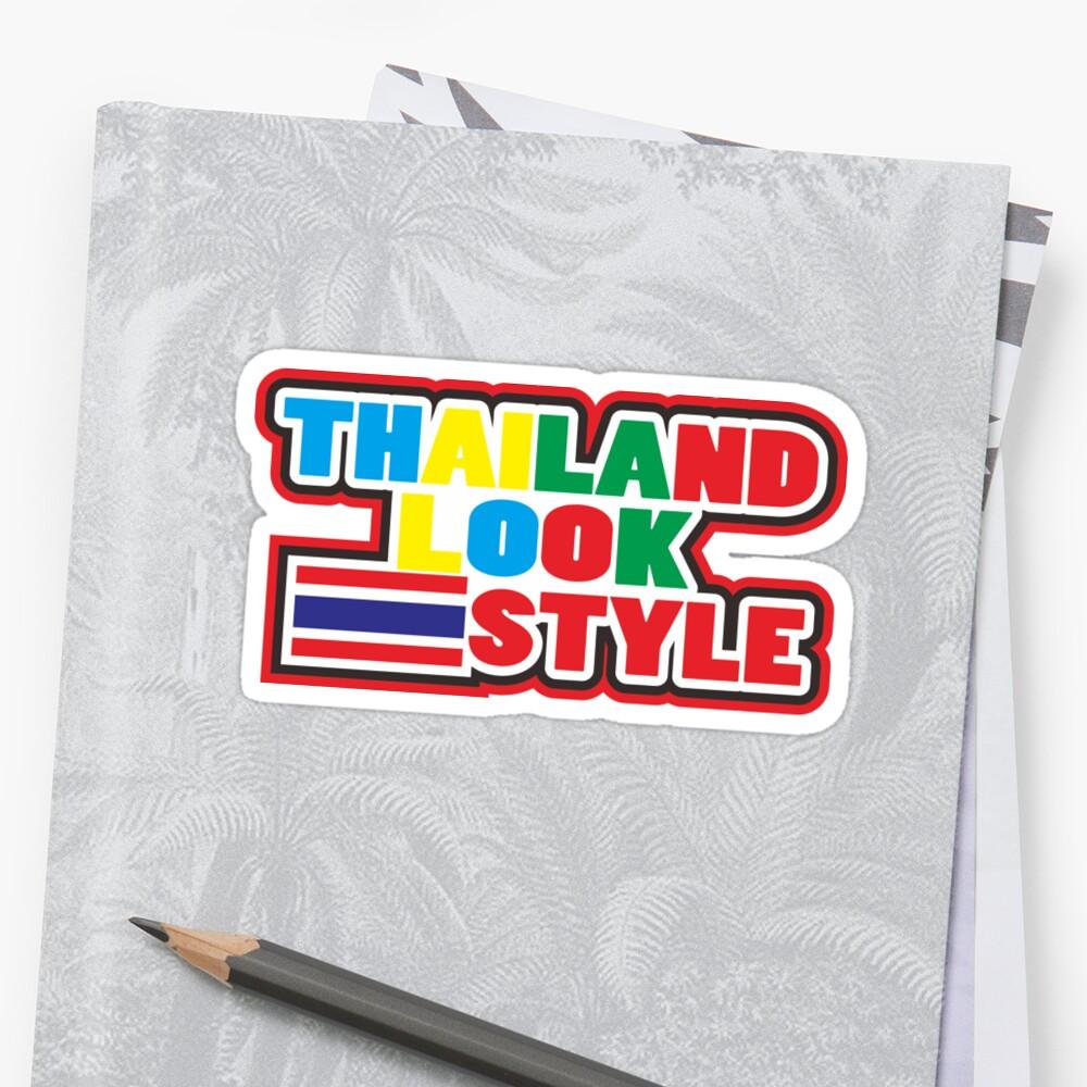 Thailand look style jdm decals racing sticker
