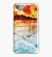 Red Sunset Over The Ocean iPhone Case/Skin