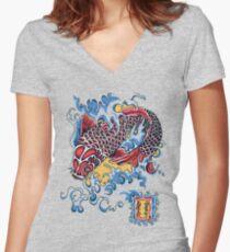 Koi t-shirt Women's Fitted V-Neck T-Shirt