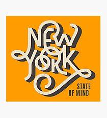 Lámina fotográfica Estado de mente de Nueva York