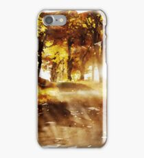 Lonely Autumn Road iPhone Case/Skin