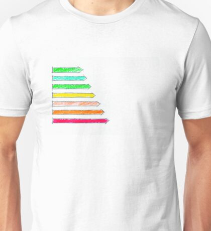 Hand drawing sketch of energy efficiency rating concept Unisex T-Shirt