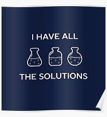 Chemistry Solutions Science Teacher Pun  Poster