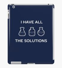 Chemistry Solutions Science Teacher Pun  iPad Case/Skin