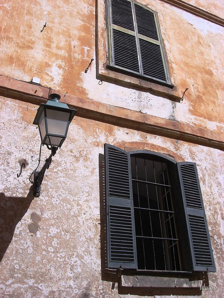 Menorcan door and street lamp by leelee