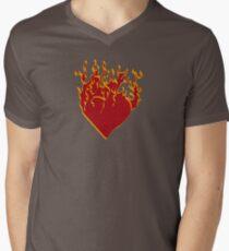 Burning.. Men's V-Neck T-Shirt