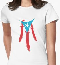 Puerto Rico Machete Flag Women's Fitted T-Shirt