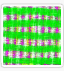 plaid pattern abstract texture in green pink white Sticker