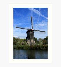 Windmill Near Utrecht The Netherlands Art Print