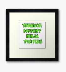Teenage Mutant Ninja Turtles Words Framed Print