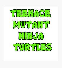 Teenage Mutant Ninja Turtles Words Photographic Print