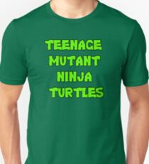 Teenage Mutant Ninja Turtles Words Unisex T-Shirt